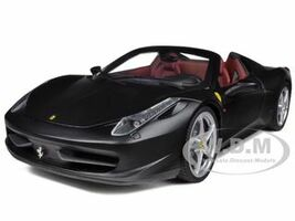 Ferrari 458 Italia Spider Matt Black Elite Edition 1/18 Diecast Car Model Hotwheels X5485
