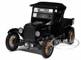 1925 Ford Model T Closed Convertible Pickup Truck Black 1/24 Diecast Model Car Sunstar 1860