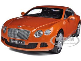 2011 Bentley Continental GT Metallic Orange 1/18 Diecast Car Model Minichamps 100139921