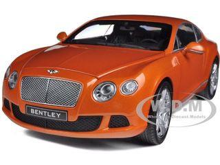 2011 Bentley Continental GT Metallic Orange 1/18 Diecast Car Model Minichamps 100139921