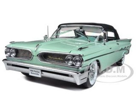 1959 Pontiac Bonneville Closed Convertible Seaspray Green 1/18 Diecast Car Model Sunstar 5192