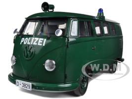1956 Volkswagen Police Van Green 1/12 Diecast Model Sunstar 5082