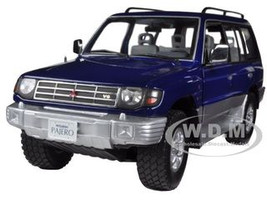 1998 Mitsubishi Pajero Long 3.5 V6 Royal Blue Pearl 1/18 Diecast Car Model Sunstar 1223
