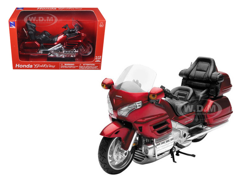2010 Honda Gold Wing Burgundy Motorcycle Model 1/12 New Ray 57253A