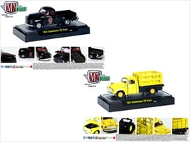 Auto Trucks Release 21A 1951 Studebaker 2R 2pc Cars Set W/CASES 1/64 Diecast Model Cars M2 Machines 32500-21A