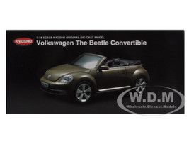 Volkswagen New Beetle Convertible Toffee Brown Metallic 1/18 Diecast Car Model Kyosho 08812