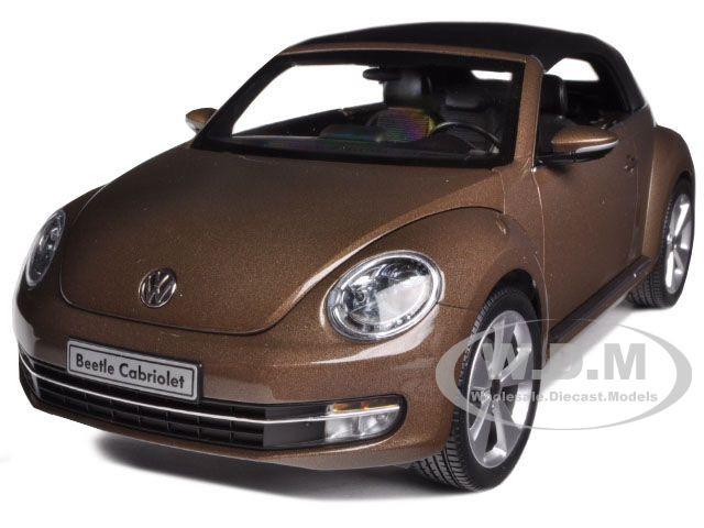 Volkswagen New Beetle Convertible Toffee Brown Metallic 1/18 Diecast Car Model Kyosho 08812