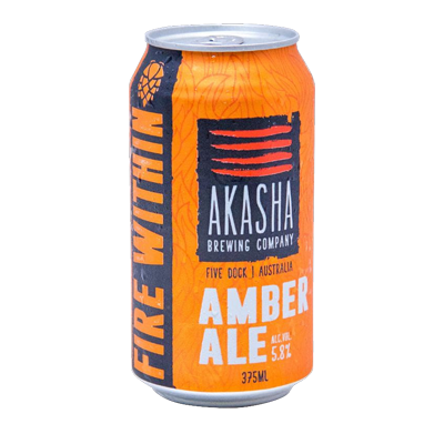 Akasha Fire Within Amber Ale 375ml Can