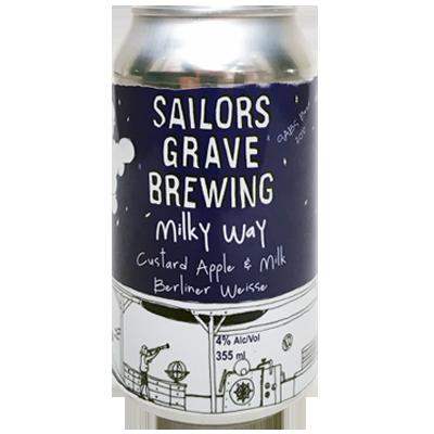 wholesale dealer 0aed0 ee4a6 Sailors Grave Milky Way Custard Apple & Milk Berliner Weisse