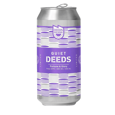 Quiet Deeds Fortune and Glory Hazy DIPA (3 Can Limit)