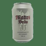 Mahr's Brau aU Ungespundet Naturtrüb Kellerbier (330ml Can)