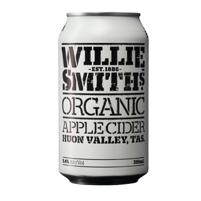 Willie Smiths Organic Apple Cider 355ml Can