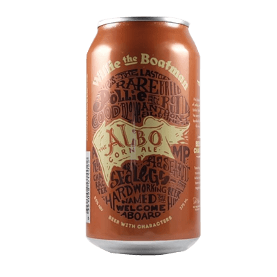 Willie The Boatman Albo Corn Ale 375ml Can