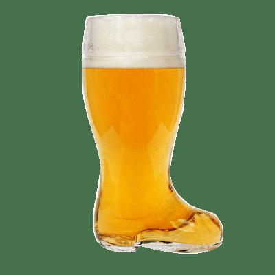 Glass Beer Boot 1 Litre Mug
