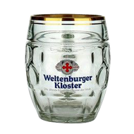 Weltenburger Glass Beer Mug