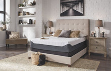 12 Inch Chime Elite White/Blue Queen Mattress