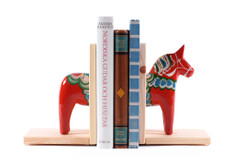 Nils Olsson - Dala Horse Book End,  Red
