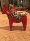 Vintage - Dala Horse Orange, 10 cm