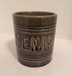 Vintage - Mustard Jar, Green