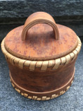 Vintage - Handmade wodden Jar