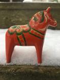 Vintage - Dala Horse Red, 7 cm