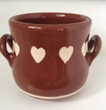 Vintage - Small Ceramic Pot Holder with Hearts