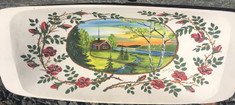 Vintage - Hand painted Trough from 1959