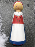 Vintage - Handpainted wodden Doll from Dalarna