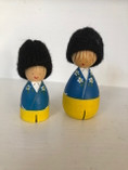 Vintage - A pair of Two Handpainted Swedish Wooden Figures