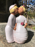 "Vintage - Wedding Couple ""Kiss and Roses"" from Jie Sweden"