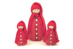 Larsson Trä - Red Girl Christmas Decoration
