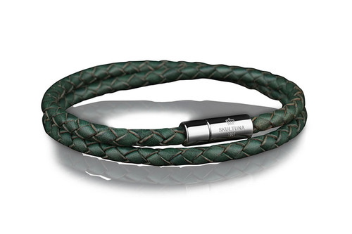 Skultuna - Leather Bracelet Green