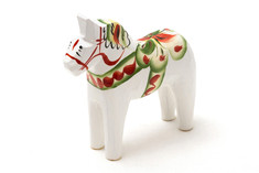 Nils Olsson Hemslöjd - Dala Horse White 13 cm