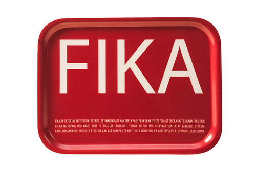I Love Design- FIKA Tray Red