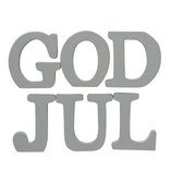 God Jul Letters Grey