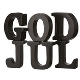 God Jul Letters Black