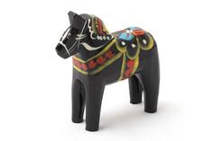 Dala Horse Black