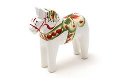 Nils Olsson Hemslöjd - Mini Dala Horse White 5cm