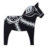 Pufz - Dala Horse Trivet Black