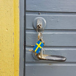 Pufz- Key-Ring, Swedish Flag