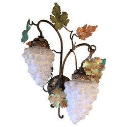 Pair Estate Italian Venetian Glass Sconces