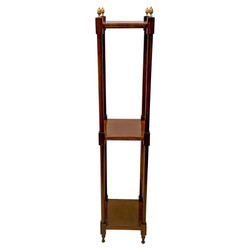 Antique English Mahogany Three Tier Display Etagere circa 1920s