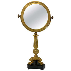 Antique French Louis Philippe Style Bronze D'Ore Coiffeuse Mirror, Circa 1880.