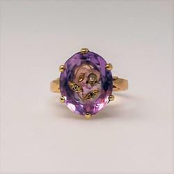 Antique American 14 Karat Gold Amethyst Ring