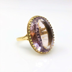 14 Karat Gold Amethyst Ring
