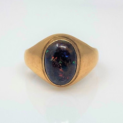Estate American 14 Karat Opal Signet Ring
