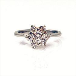 Estate American 14 Karat White Gold Diamond Ring