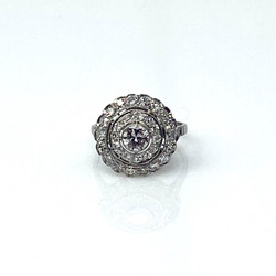 Hand-Made Diamond and Platinum Ring