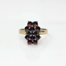 Garnet Broach Ring