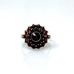 Refined Garnet Ring